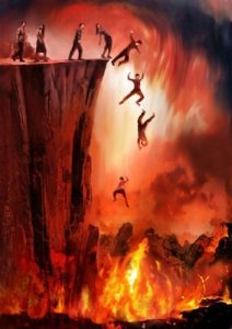 Dämonen Abgrund Feuersee